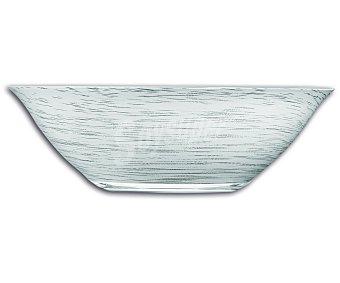 LUMINARC Ensaladera modelo Stonemania de 27 centímetros, fabricada en vidrio templado blanco y con un moderno diseño de líneas en espiral 1 Unidad