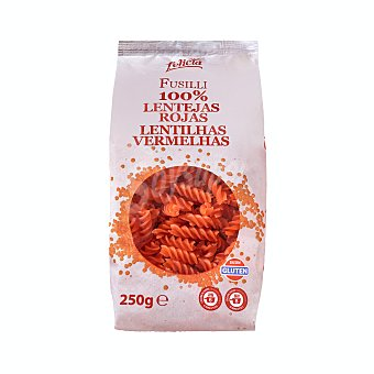 Felicia Helices pasta de lenteja roja 100 % Paquete 250 g