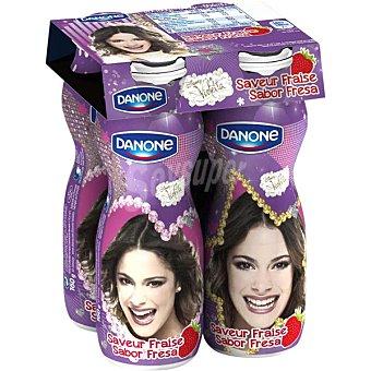 Danone Yogur líquido sabor fresa Disney Pack 4 unidades 160 g
