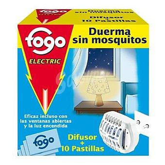 Fogo Insecticida Aparato Eléctrico + 10 pastillas Aparato + 10 pastillas