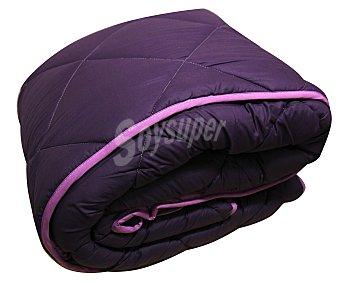 Auchan Relleno nórdico acrilíco para cama de 90 centímetros, lila bicolor, densidad de 300 gramos 1 Unidad