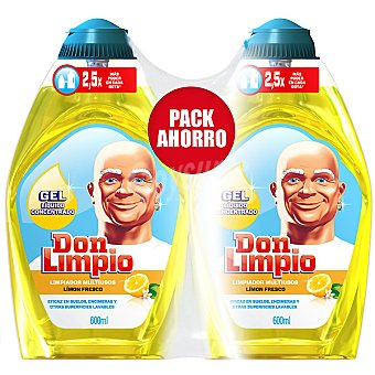 Don Limpio Limpiador en gel concentrado Limón Fresco Pack 2 botella 600 ml