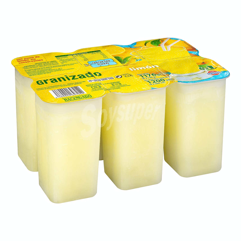 Hacendado Granizado Limon Pack 6 U 1200 Ml