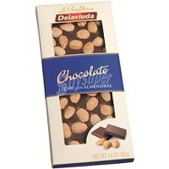 Delaviuda Chocolate con leche-almendras Tableta 130 g