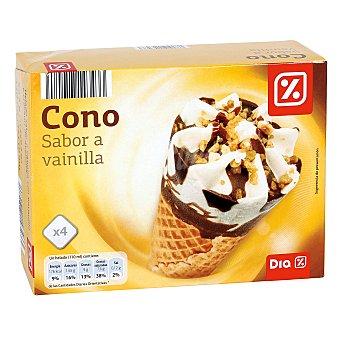 DIA Helado cono vainilla caja 4 uds 252 gr 4 uds 252 gr