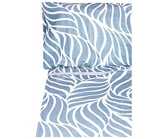 Actuel Juego de sábanas de franela estampadas, color azul, 105 centímetros, actuel
