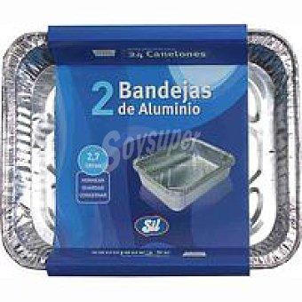 Bandeja de aluminio 2 7 litros