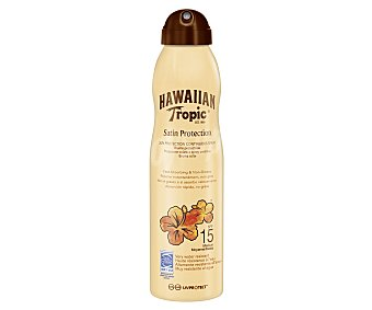 Hawaiian Tropic Protector solar en spray con factor de protección 15 (medio) 220 ml