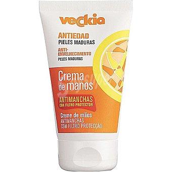 Veckia Crema de manos antiedad piel madura anti-envejecimiento antimanchas con filtro protector Tubo 125 ml