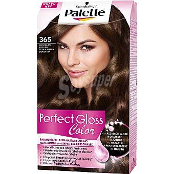 Palette Schwarzkopf Tinte Perfect Gloss Color nº 365 chocolate oscuro con acondicionador de jojoba caja 1 unidad sin amoniaco Caja 1 unidad