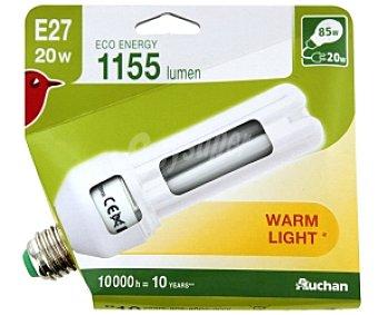 AUCHAN Bombilla bajo consumo Estándar Luz Cálida E27 20W 1 Unidad