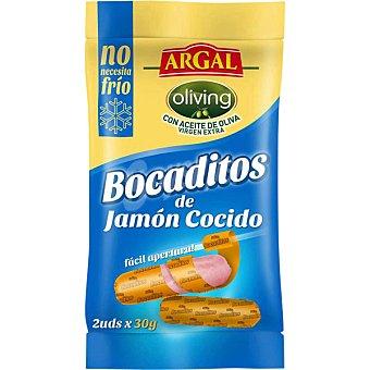 Argal Bocaditos de jamón cocido en porciones  2 bolsas de 50 g