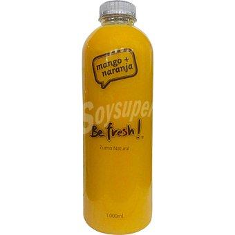 BE FRESH Zumo naranja y mango botella 1 l 1 l