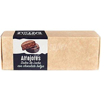 RAFFOLE Alfajores dulce de leche con chocolate belga galletas artesanas Estuche 240 g