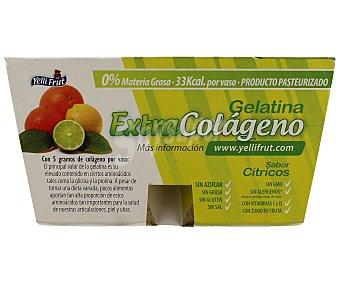 Yelli Fruit Gelatina extra colágeno con sabor a cítricos 4 unidades de 100 gramos
