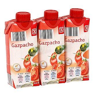 DIA Gazpacho refrigerado envase 330ml Pack 3 unidades