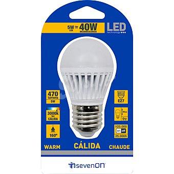 SEVENON 5 W (40 W) lámpara LED esférica mate blanco cálido casquillo E27