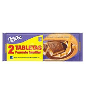 Milka Chocolate con caramelo y avellanas Pack de 2x300 g