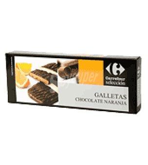 Carrefour Selección Galleta de naranja y recubierta de chocolate 100 g