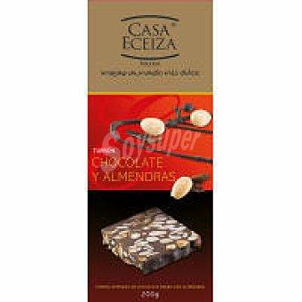 Casa Eceiza Turrón de chocolate con almendras Caja 200 g