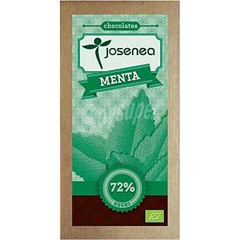 JOSENEA Chocolate negro con menta 72% cacao Bio  tableta de 100 g