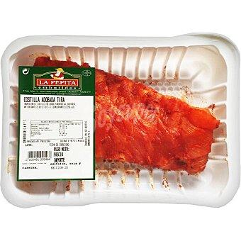 La Pepita Tira de costilla de cerdo adobada peso aproximado bandeja 600 G Bandeja 600 g