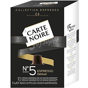 Carte Noire Espresso Delicat café intensidad 5 (53 gramos) 10 unidades