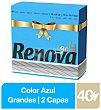 Servilleta 2 capas 40 ud - Azul 40 ud RENOVA Gold