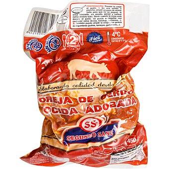 SEGUNDO SANZ Oreja cocida de cerdo adobada Envase 450 g