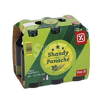 DIA Shandy cerveza con limón Pack 6 botellas 25 cl