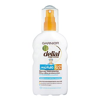 Delial Garnier Solar para niños hidratante FP50+ 200 ml