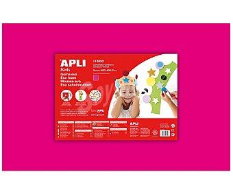 APLI Plancha de foam, goma eva de color fucsia y dimensiones 400x600x 2 milímetros 1 unidad