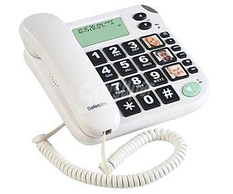 SELECLINE SENIORS Teléfono fijo bipieza (producto económico alcampo) Blanco, especial personas mayores, incorpora función manos libres,