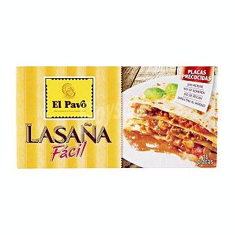 El Pavo Gallina Blanca Pasta lasaña calidad superior placas precocidas Paquete 18 uds