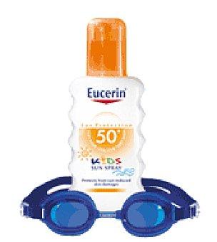 Eucerin Spray solar infantil sin perfumes y Regalo Gafas Natación 200 ml