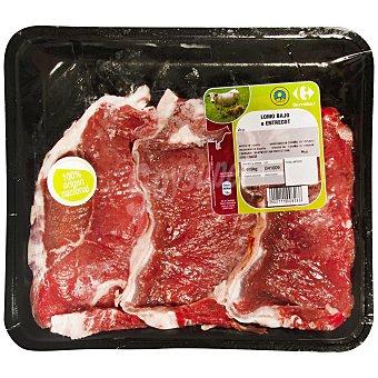 Carrefour Filete lomo añojo C. y O. Bandeja de 550.0 g.