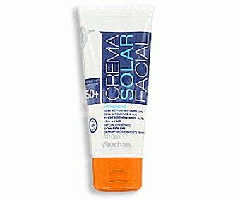 Auchan Crema Solar Facial. Factor Protección Solar 50+ 100ml