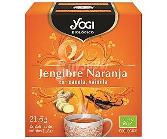 Yogi Tea Té ecológico de jengibre con naranja Caja 12 u