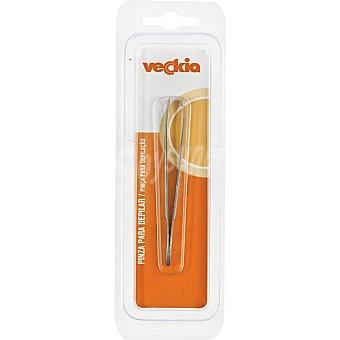 Veckia Pinza para depilar con punta oblicua y ancha blister 1 unidad