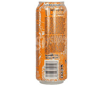 Monster Energy Bebida energética Monster Ultra Sunrise zero calorías 50 cl