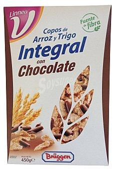 Brüggen Cereal copos arroz trigo integral chocolate Caja 450 g