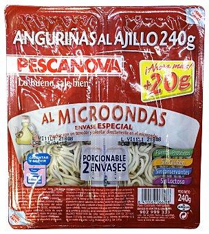 Pescanova Anguriña refrigerada al ajillo (envase especial para microondas) 2 unidades de 120 g ( 240 g )
