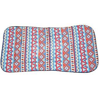 CANASTILLA SAMPLES Colchoneta para silla de paseo recta con dibujos étnicos multicolores