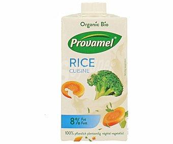 Provamel Nata de arroz 100% vegetal sin lactosa para cocinar Bio Envase 250 cc