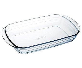 ARCUISINE Fuente rectangular de 35x23 centímetros y fabricada en cristal con 2 pequeñas asas para un fácil agarre 1 Unidad