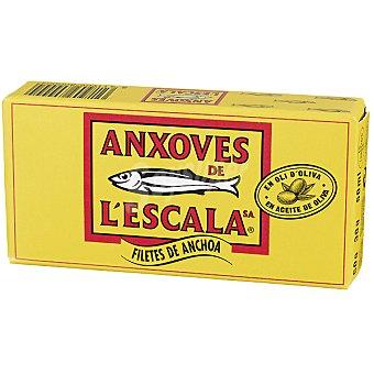 Anxoves de L´Escala Filetes de anchoa en aceite de oliva Lata 30 g neto escurrido