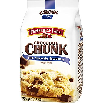 PEPPERIDGE FARM Chocolate Chunk Galletas con pepitas de chocolate y nueces de macadamia Paquete 206 g
