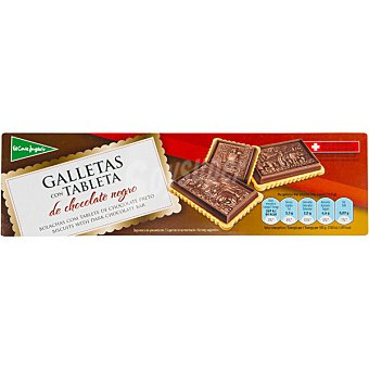 El Corte Inglés Galletas con tableta de chocolate negro Estuche 125 g