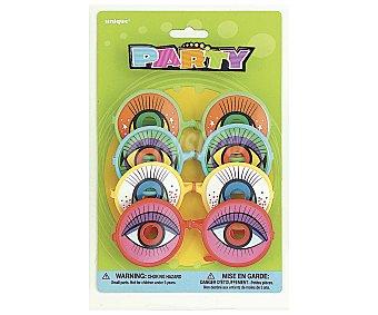 Party Relleno para piñatas, gafas graciosas de colores 4 unidades
