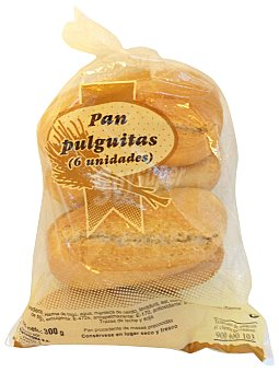 Mercadona Pan pulguitas 6 u